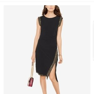 NWT sexy Michael Kors asymmetric studded hem dress